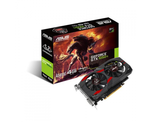 Asus Cerberus Advanced Edition NVIDIA, 4 GB, GeForce GTX 1050 Ti, GDDR5, PCI Express 3.0