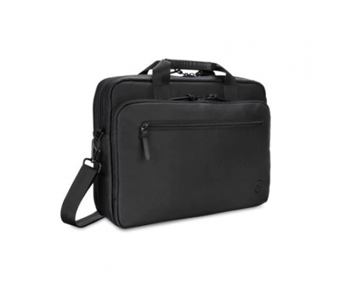 Dell Premier Slim 460-BCFT Fits up to size 15, Black, Shoulder strap, Full-grain PU leather, Messenger - Briefcase
