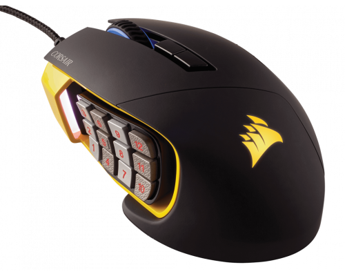 Corsair Scimitar PRO RGB Optical MOBA/MMO Gaming Mouse - Yellow