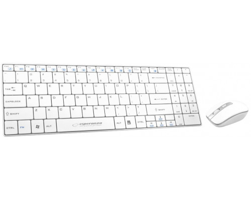 ESPERANZA SLIM Wireless Keyboard + Wireless Mouse EK122W USB | 2.4 GHz