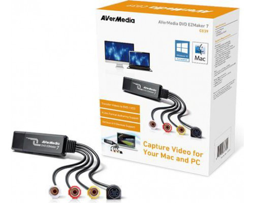 AVerMedia DVD EZMAKER 7 USB VIDEO GRABBER (61C039XX00BH)