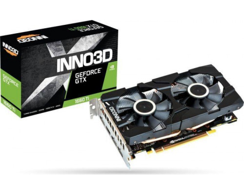 INNO3D GeForce GTX 1660 Ti Twin X2 , 6GB GDDR6, 3xDP, HDMI