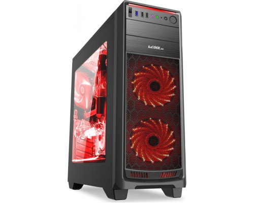 1stCOOL GAMER 1 case, Full Tower, AU, USB 3.0 + Set FAN1, black
