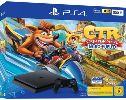 Sony Playstation 4 Slim 500GB + Crash Team Racing