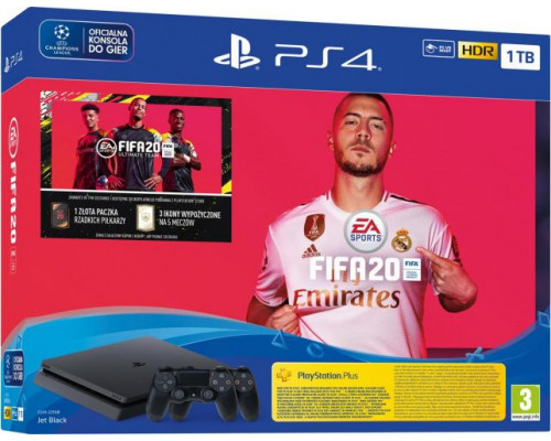 Sony PlayStation 4 Slim 1TB + FIFA 20 + Additional Pad DS4
