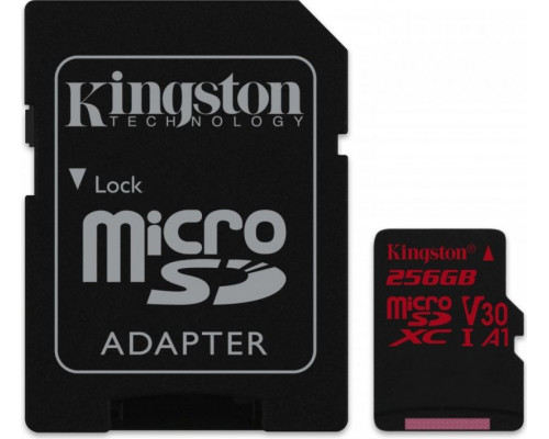 Kingston Canvas React 100/80MB/s adapter U3 (SDCR/256GB)