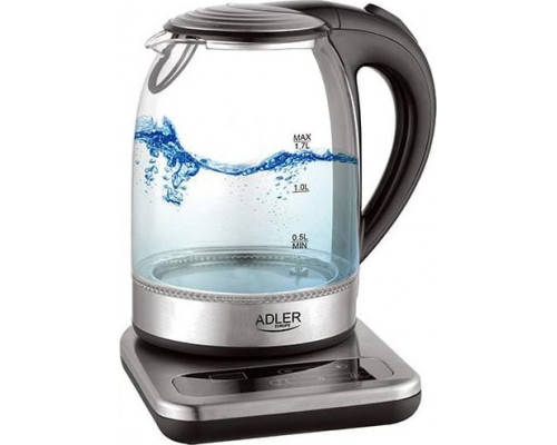 Adler kettle Glass kettle with a base 1.7 L with reg. temp. AD 1293