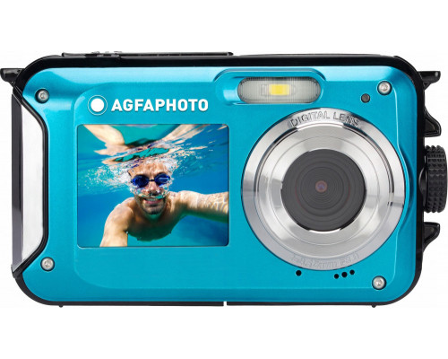 AgfaPhoto Digital Camera Underwater 24MP Video Hd 3m Agfa Photo / Blue
