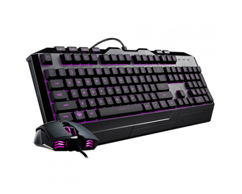 Cooler Master CM STORM CM Storm Devastator 3 gaming combo, RGB LED , anti-slip surfaces and grips Gaming, Wired, Keyboard layout EN, USB
