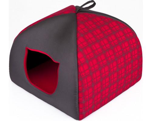 HOBBYDOG Budka Igloo - Czerwona w kratkę R3