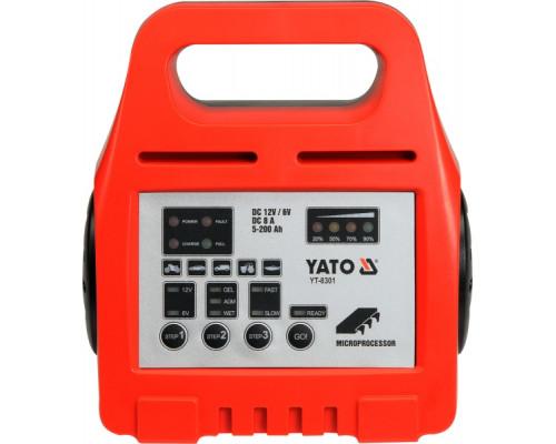 Yato  6/12V 8A 5-200Ah (YT-8301)