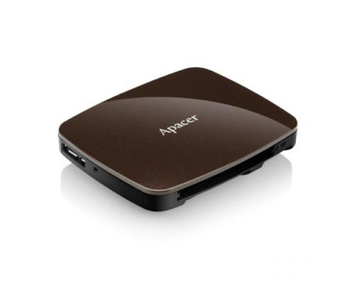 Apacer Card Reader Brown - microSD, SD, USB 3.0