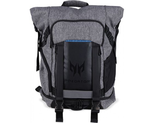 """Acer PREDATOR GAMING ROLLTOP BACKPACK FOR 15 """"NBs GRAY n TEAL BLUE (RETAIL PACK)"""