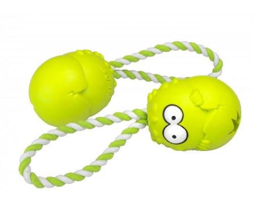Suņu rotaļlieta EBI Coockoo Bumpies toy + Green Rope M 7-16kg 8.5x6.8x5.8cm