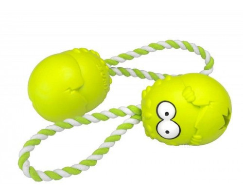 Suņu rotaļlieta EBI Coockoo Bumpies toy + Green Rope L 13-30kg 11x8.7x7.5cm